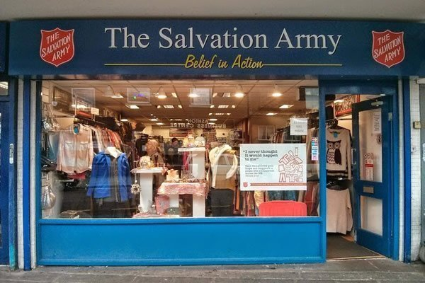 the salvation army charity shops in tameside. Black Bedroom Furniture Sets. Home Design Ideas
